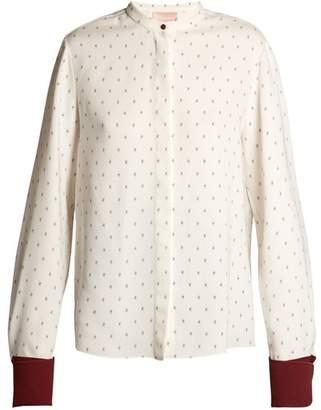 Roksanda Carone Geometric Print Silk Blouse - Womens - White Print