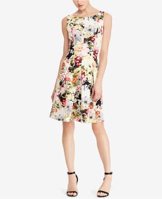 American Living Floral-Print A-Line Dress