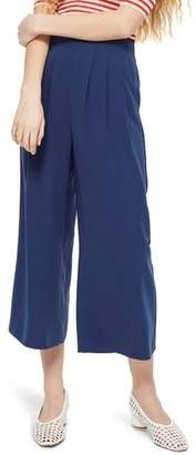 Topshop Ivy Crop Wide Leg Trousers