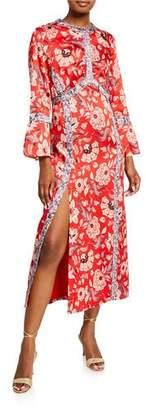Cinq à Sept Smyth Floral-Print Empire Dress