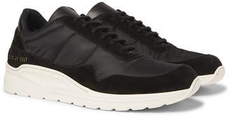 Common Projects Cross Trainer Nylon and Suede Sneakers - Men - Black