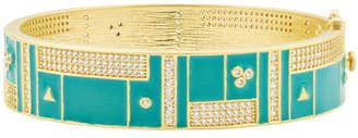 b615b0d9fe7 Freida Rothman Harmony Turquoise Wide Hinge Bangle