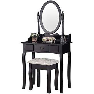 Mecor Makeup Vanity Table Set/Oval Mirror
