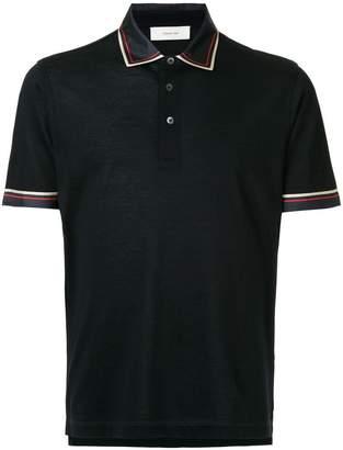Cerruti contrast-trim polo shirt