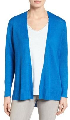 Women's Eileen Fisher Organic Linen Open Front Cardigan $198 thestylecure.com