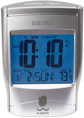 Seiko Get Up & Glow R-Wave Radio-Controlled Digital Bedside Alarm Clock - QHR025SLH