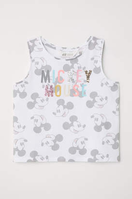 H&M Tank Top with Motif - White