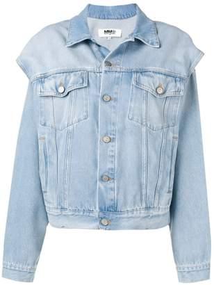 MM6 MAISON MARGIELA cut-out denim jacket