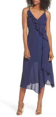 Sloane CLOVER AND Georgette Faux Wrap Dress