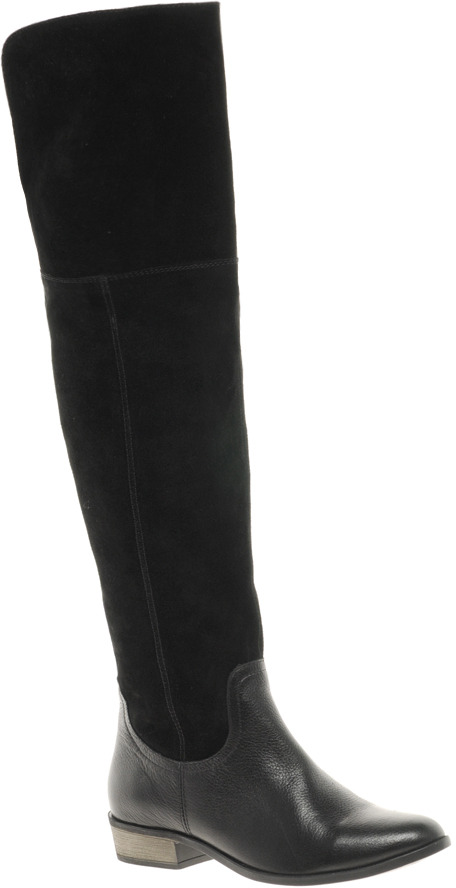 Asos KNOCK KNOCK Leather Over the Knee Boots