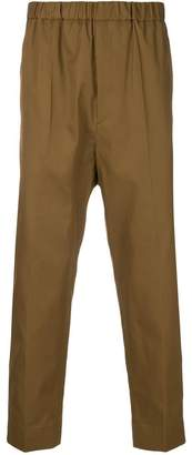Jil Sander elasticated cropped trousers
