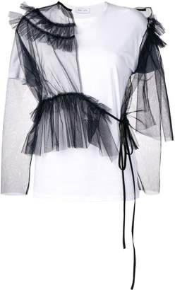 Act N°1 tulle panels T-shirt