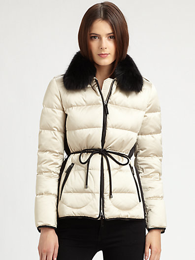 Burberry London Fur-Trimmed Puffer Jacket