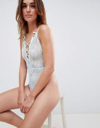 Asos DESIGN Blossom plunge Lace bodysuit