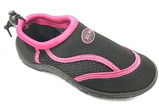Pool' Sea Sox Children's Kids Water Shoes Aqua Socks Beach Pool Yoga Exercise Black/Purple Little Kid 2