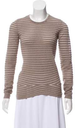 Alexander Wang Sheer-Paneled Long Sleeve Top