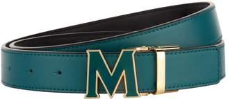 MCM Leather Logo Belt
