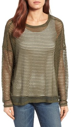 Women's Bobeau Mesh Top $49 thestylecure.com