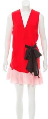 Vionnet Colorblock Mini Dress