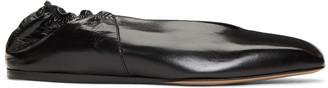 Rick Owens Black Geo Ballerina Flats $810 thestylecure.com