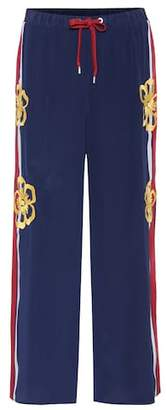 RED Valentino Embellished silk trousers