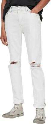 AllSaints Rex Damaged Skinny Fit Jeans
