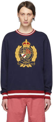 Polo Ralph Lauren Navy Fleece Graphic Sweatshirt