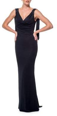 Terani Couture Glamour by V-Neck Sleeveless Dress