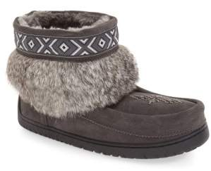 Manitobah Mukluks 'Keewatin' Genuine Shearling and Rabbit Fur Boot