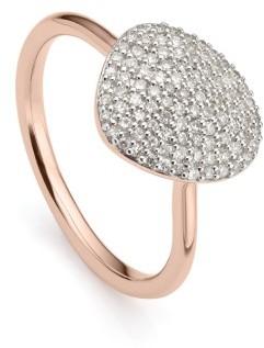 Women's Monica Vinader Nura Diamond Pebble Ring $750 thestylecure.com