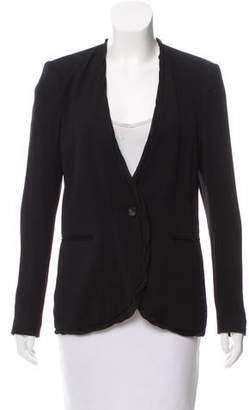 Helmut Lang Structured Silk-Trimmed Jacket