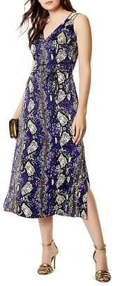 Karen Millen Snake Print Strappy Silk Dress