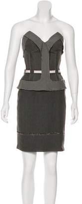 Stella McCartney Strapless Knee-Length Dress