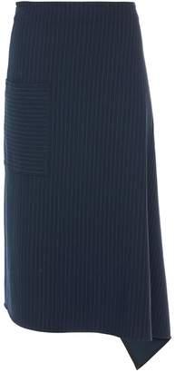Tibi Pinstripe Knit Origami Skirt