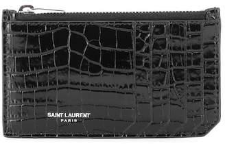 Saint Laurent Classic Paris leather card holder