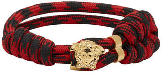 Versace Black and Red Rope Bracelet