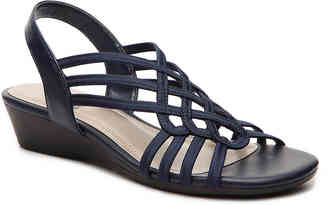 Women's Reaction Wedge Sandal -Navy $52 thestylecure.com