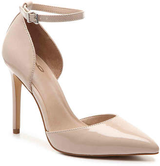 f97d7015357 Nude Point Toe Ankle Strap Pump - ShopStyle