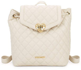 Love Moschino Quilted Drawstring Backpack