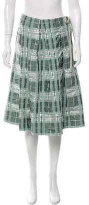 Marni Plaid Knee-Length Skirt