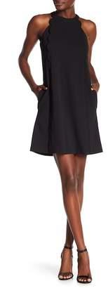 Kensie Scalloped Trim Halter Dress