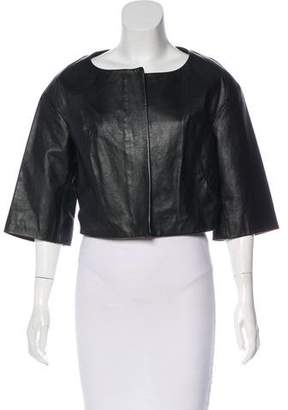 Chloé Cropped Leather Jacket