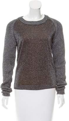 Reed Krakoff Metallic Long Sleeve Sweater