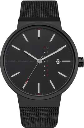 French Connection Men's Quartz Metal and Stainless Steel Casual Watch, Color: (Model: FC1283BBM)