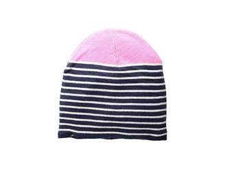 Plush Fleece-Lined Striped Color Block Beanie Beanies