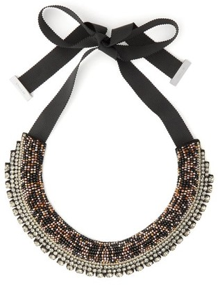 Etro Crystal And Bead Satin Necklace - Womens - Crystal