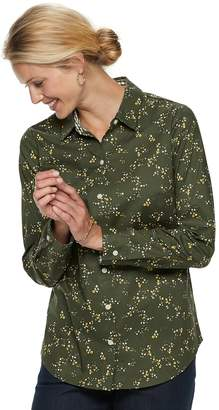 Croft & Barrow Petite Easy Care Button Down Shirt