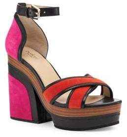 Botkier New York Paloma Kid Suede Platform Sandals