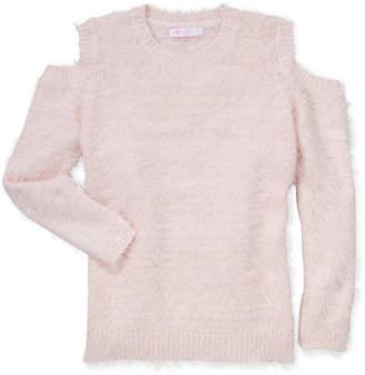 Pinc Premium Girls 7-16) Eyelash Knit Cold Shoulder Sweater