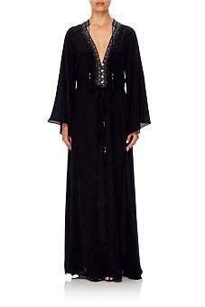 Camilla Midnight Meeting/Blk Drawstring Button Up Dress